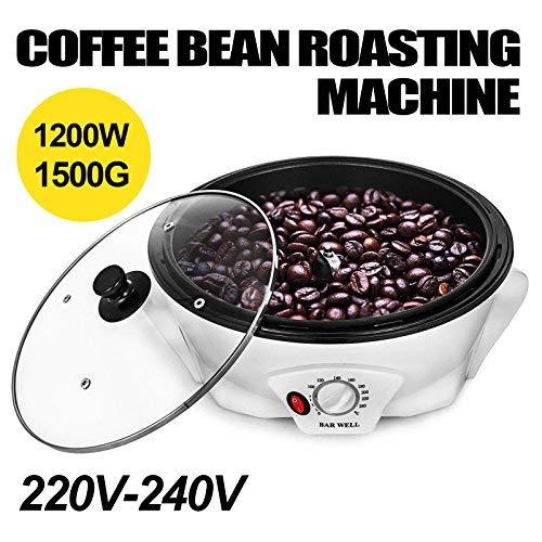 Home Roasters - VEVOR 1200W Coffee Bean Roasting Machine Household1500G Baking Machine Coffee beans Home coffee roaster machine 220-240V