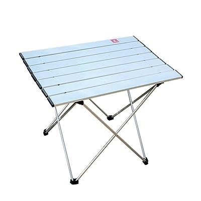 ZXL Mesa Plegable Exterior de Aluminio Plegable portátil luz Mesa de Picnic Turismo Salvaje Barbacoa Salvaje Mesa de Camping: Hogar