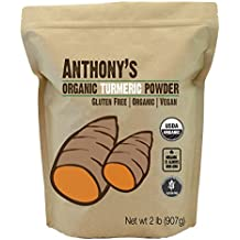 Organic Turmeric Root Powder (2lb) by Anthony's, Curcumin & Non-GMO (32 ounces)