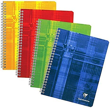 Clairefontaine Wirebound Graph Notebook Set of 3 with 8 Tabs 4.25x6.75'' - Various Colors by Clairefontaine