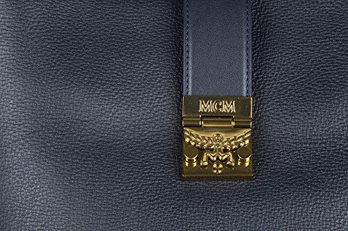MCM borsa donna a spalla shopping in pelle nuova blu Envío Bajo Precio Barato DhfUKwr