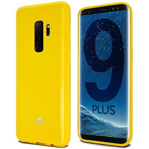 Galaxy S9 Plus Case, [Thin Slim] GOOSPERY [Flexible] Pearl Jelly Rubber TPU Case [Lightweight] Bumper Cover [Impact Resistant] for Samsung Galaxy S9 Plus (Yellow) S9P-JEL-YEL
