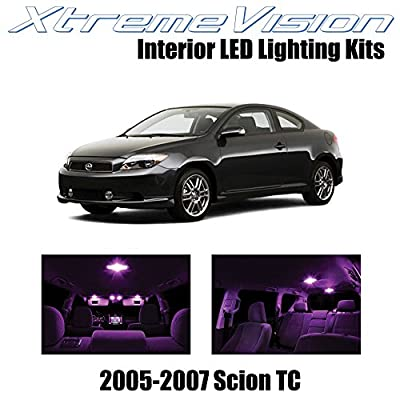 XtremeVision Interior LED for Scion TC 2005-2007 (10 Pieces) Pink Interior LED Kit + Installation Tool: Automotive