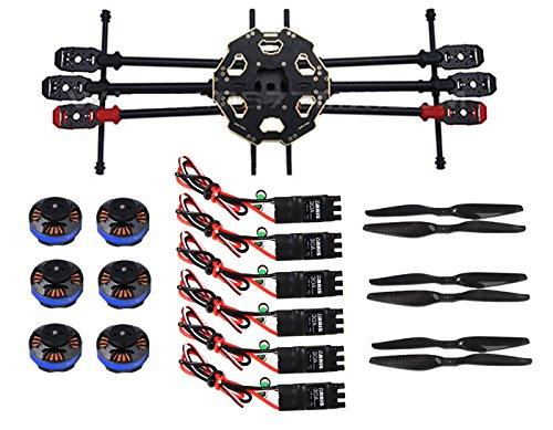 Tarot FY680PRO FPV空撮ヘキサコプター折り畳み式 6軸カーボンファイバースーパーコンボ(未組付)機体+モーター+ESC+プロペラ B00R0TTRG2