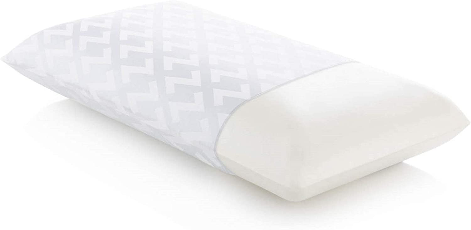 MALOUF Z Memory Foam Pillow with Luxurious Rayon from Bamboo Velour Washable Cover, Queen