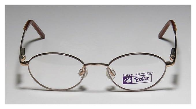2f77a77350 Amazon.com  Hush Puppies 528 Unisex Boys Girls Kids Designer Full-Rim Shape Stylish  Elegant Size Eyeglasses Eyewear (42-16-120