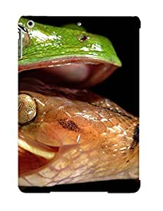 lintao diy Crazinesswith Durable Morelet Tree Frog Attacked By Cateyed Snake Back Case/ Cover For Ipad Air For Christmas