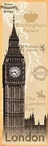 Pyramid America London Big Ben Landmarks Vintage Cool Wall Decor Art Print Poster 12x36