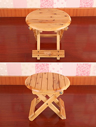 Folding Stool, Folding Small Bench, Solid Wood Stool, Non-plastic Stool, Fishing Stool, Children's Stool by PM-Folding Stools (Image #2)