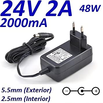 Cargador Corriente 24V 2A 2000mA 5.5mm 2.5mm 48W: Amazon.es ...