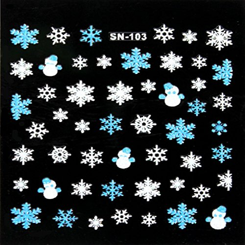 Nail Art Stickers, Sandistore 1PC Xmas 3D Nail Art