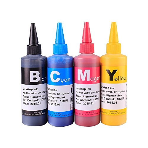 INKOA (TM) 4x100ml Premium Pigmented ink for 69 T069 CIS/CISS and refillable cartridges