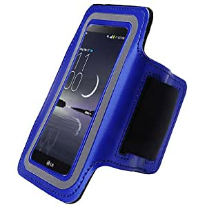 Blue ArmBand Workout Case Cover For LG G Flex D959 D950 LS995 with Free Pouch