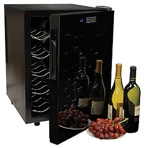 Amazon.com: Koolatron WC20 Mirrored Glass Door Wine Cellar 20 Bottle, Black: Appliances