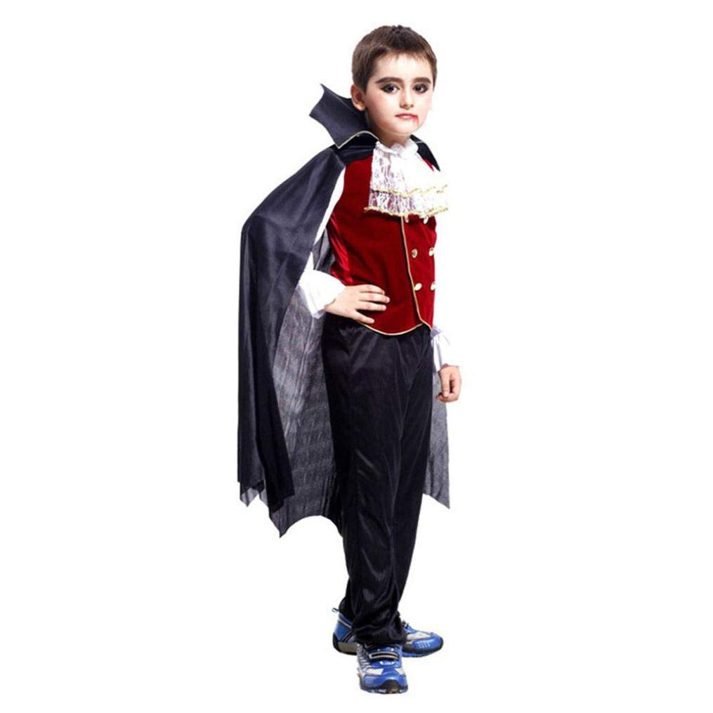 Halloween Cosplay Costume Vampire for Baby Kids, Toddler Boys Girls Halloween Cosplay Costume Tops Pants Cloak Outfits Set (4T, Black) by BabiQ (Image #1)