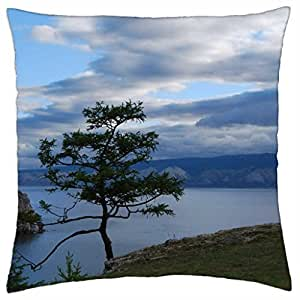 The Lonely Tree By The Sea - Throw Pillow Cover Case (18