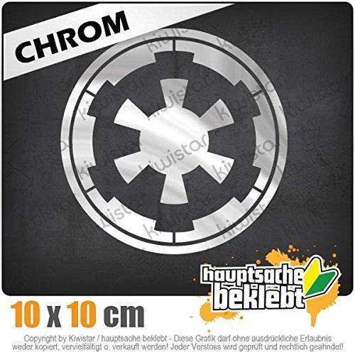 Sticker Aufkleber Neon Galaktisches Imperium 10 x 10 cm IN 15 FARBEN Chrom