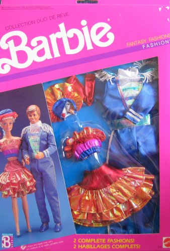 [Barbie Fantasy Fashions BARBIE & KEN Dance Date Fashion Outfits (1989 Mattel Canada)] (Canada Dance Costumes)