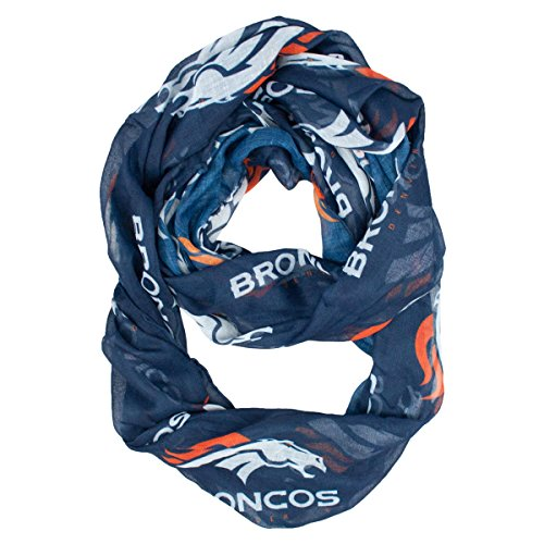 Littlearth NFL Denver Broncos Sheer Infinity Scarf (Looped Scarf)