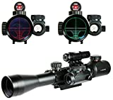 Higoo Tactical 3-9X40 Illuminated Hunting Red/Green Laser Riflescope Rifle Scope with Holographic Dot Sight Combo Airsoft Gun Weapon Sight For Sale