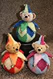 Teddy Bear ''Tumbly'' ± 6 Inches - Sew It Yourself KIT (red/orange)