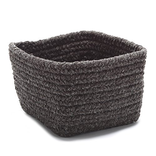 Natural Shelf Storage Square Basket, 11 by 11 by 8-Inch, Dark Brown by Natural Shelf Storage
