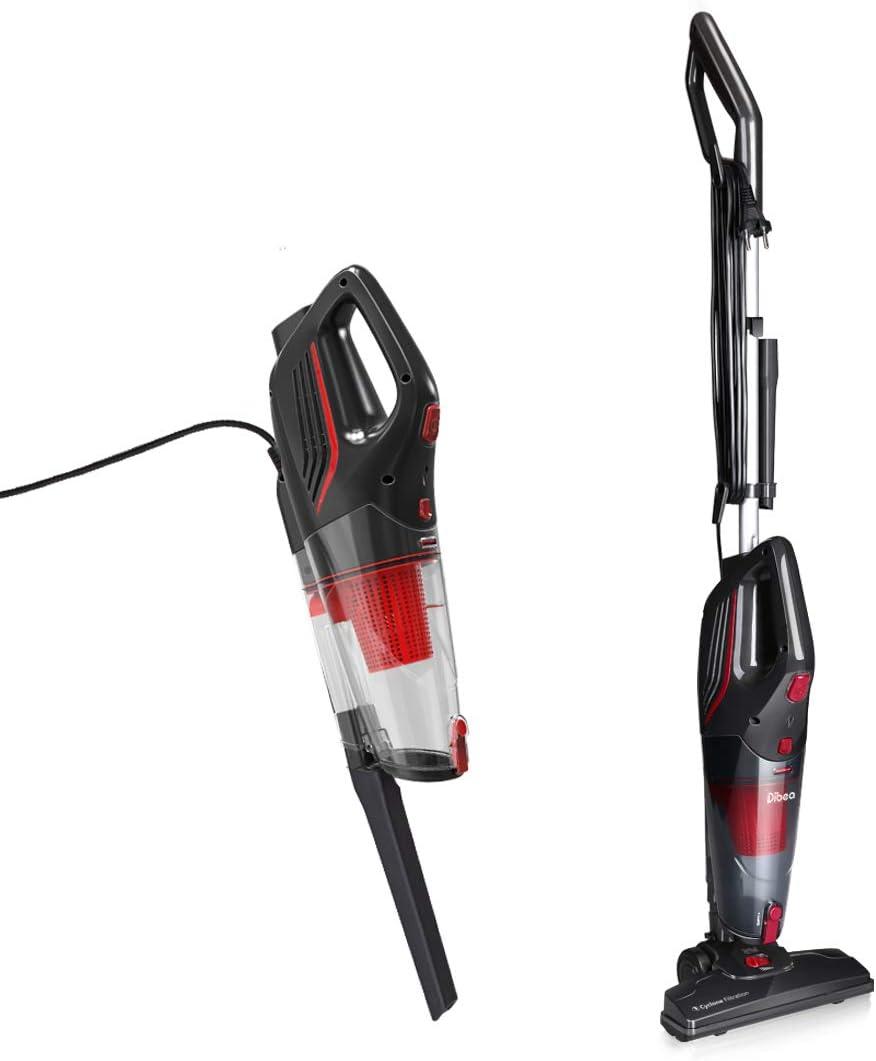Dibea 2-in-1 Corded Upright Stick & Handheld Vacuum Cleaner