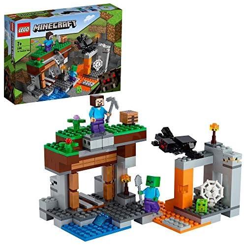 chollos oferta descuentos barato LEGO 21166 Minecraft La Mina Abandonada Set de Construcción de la Cueva de Zombies con Figuras de Steve Slime y Araña