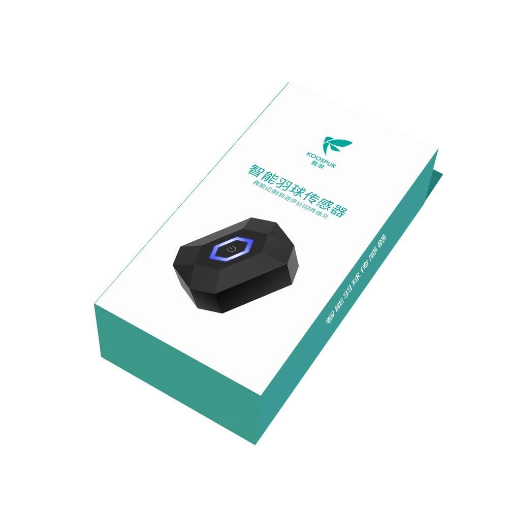 Coollang Koospur Xiaoyu 3.0 Capteur de Raquette de Badminton Tracker D/étecteur de Mouvement avec Bluetooth 4.0 Support Android et iOS