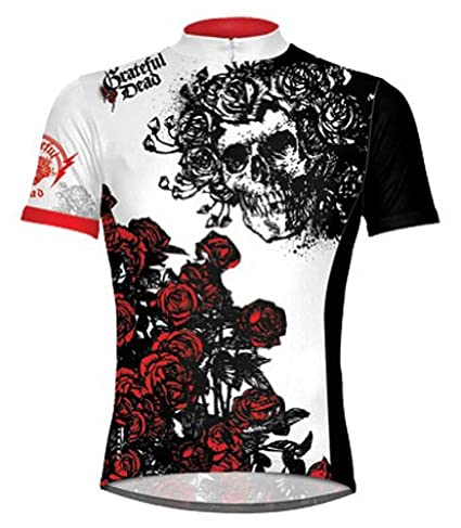 3a655129d Image Unavailable. Image not available for. Color  Primal Wear Grateful Dead  Skulls and Roses Cycling Jersey 4X Short Sleeve Men s