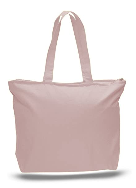 00e33a0cb Image Unavailable. Image not available for. Color: Jumbuzz Zip Top Heavy  Canvas Tote Bag ...