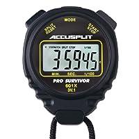 ACCUSPLIT Pro Survivor - A601XBK Cronómetro, Reloj, Pantalla Extra Grande (Negro)