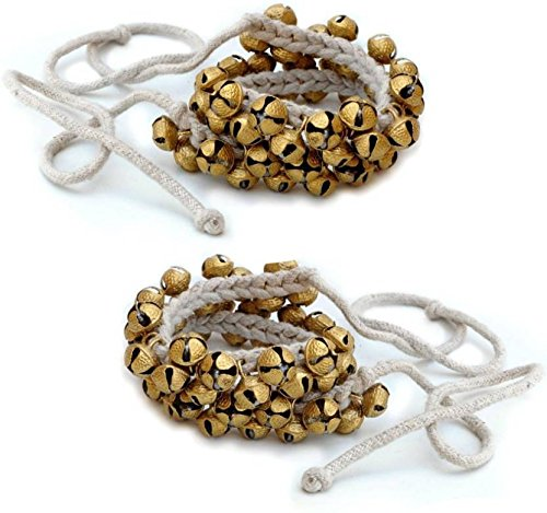 Prisha India Craft ® Kathak Ghungroo Pair, (25+25) (12 No. Ghungroo) Bells Best quality Tied with CottonCord Indian Classical Dancers Anklet Musical Instrument by Prisha India Craft (Image #2)