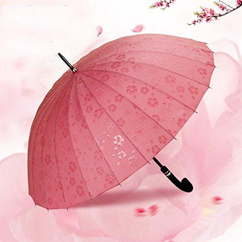Edge to Bone Paraguas Paraguas Largo Creativa Coreana Sra Aire Libre de Gran tamaño Doble Doble Paraguas Paraguas de Sol,...