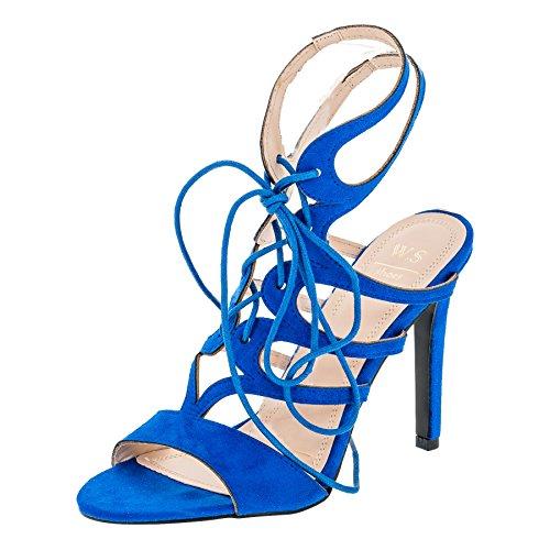 WS Shoes Damen Sandaletten Pumps High Heels Stiletto Party Schuhe in ...
