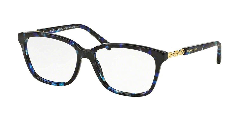 74cb7b730d3 Michael Kors MK8018F Eyeglass Frames 3109-54 - Blue Tortoise gold  MK8018F-3109-54 at Amazon Women s Clothing store