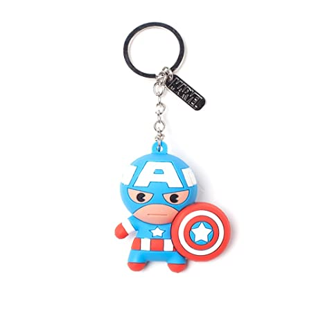 Official Marvel Comics Captain America Character 3D Pendant Rubber Keychain   Amazon.ca  Luggage   Bags 61659fb7a7