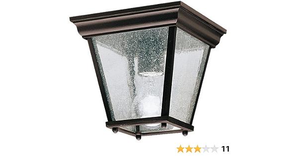 Kichler 9859bk Outdoor Flush Mount 1 Light Incandescent 100 Watts Black Flush Mount Ceiling Light Fixtures Amazon Com