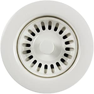 Houzer 190-9261 Sink Strainer for 3.5-Inch Drain Openings, White