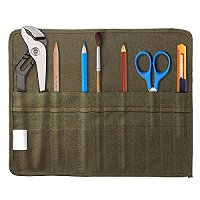 Mohoo Brush Bag Artist Draw Pen Watercolor Roll Up Canvas Oil Paint Brush Cases Holder
