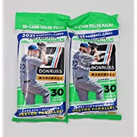 $21 » 2021 Panini Donruss MLB Baseball Fat Pack - 2 Packs - 60 Cards Total - Look for 6 Holo Red…