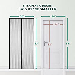 magnetic screen door bearmoo updated sticky design door screen durable screen mesh