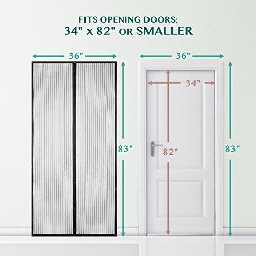 BearMoo Magnetic Screen Door, Updated Sticky Design Door Screen, Durable Screen Mesh, Fits Door...