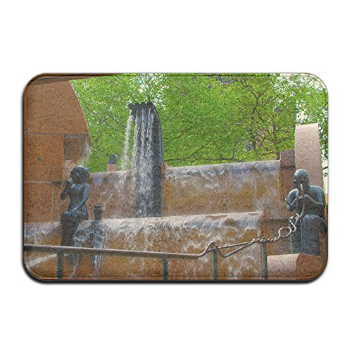 Fountain Berlin Germany Architecture Non Slip Indoor Doormat For Home Office Clean Absorbent Antiskid Kitchen Bath Mats by Pkdkcod
