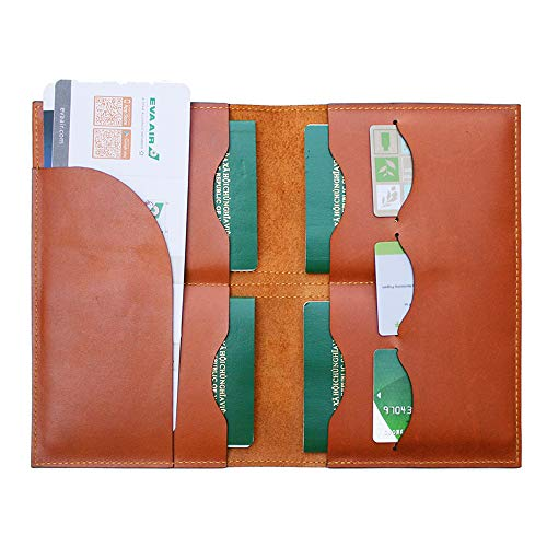 Handmade Curious Family Passport Holder - Leather Travel Multiple Passports Wallet by Handmade Curious