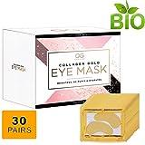 Gold Glow 24k Collagen Under Eye Treatment Mask | Hyaluronic Acid Eliminates Wrinkles, Dark Outs,Undereye Puffiness| Moisturiser Firming Eye Pads For Women & Men