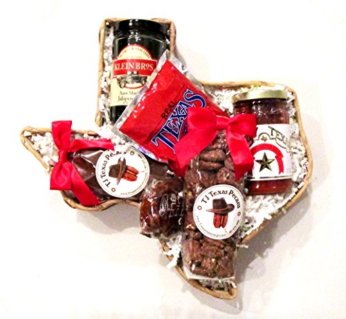 (Taste of Texas Gift Basket in Texas State Shaped Basket)