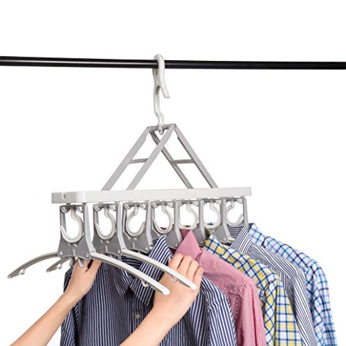 Closet Clothes Hangers Space Saving Hangers Multi-Function Plastic Cascading Hanger Non Slip with Drying Rack Wardrobe Dorm Apartment ()