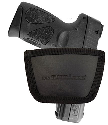 Leather Inside & Outside Waistband Belt Slide Holster Fits Taurus PT111 (SLH) Black by Garrison - Usps Class International First Tracking Countries