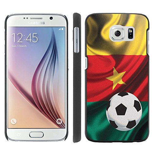 Mobiflare, Slim Clip-on Phone Case, for [Samsung Galaxy S6 G920] - Cameroon Flag with Soccer Ball